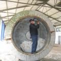 Winfried Plate in der Fahrwassertonne
