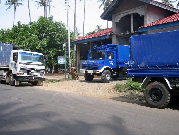 Zusammenstellung des ersten Convoy in Richtung Hafen