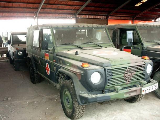 Sämtliche Bundeswehrfahrzeuge wurden nach Einsatzende desinfiziert, leider blieb davon nicht mehr viel über