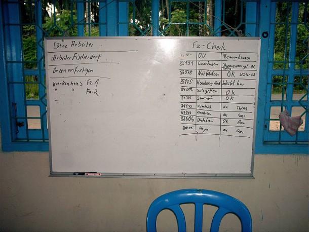 Übersicht der Fahrzeuge im Einsatz Banda Aceh / Indonesien