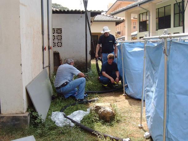 Aufbau der TWAA 6 im Krankenhaus