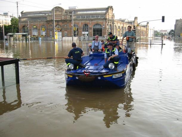 In Dresden beim letzten aktiven Hochwassereinsatz